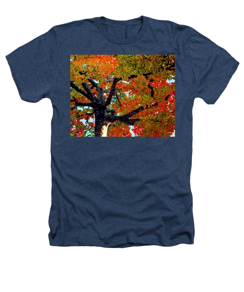 Fall Heathers T-Shirt featuring the photograph Autumn Tree by Steve Karol