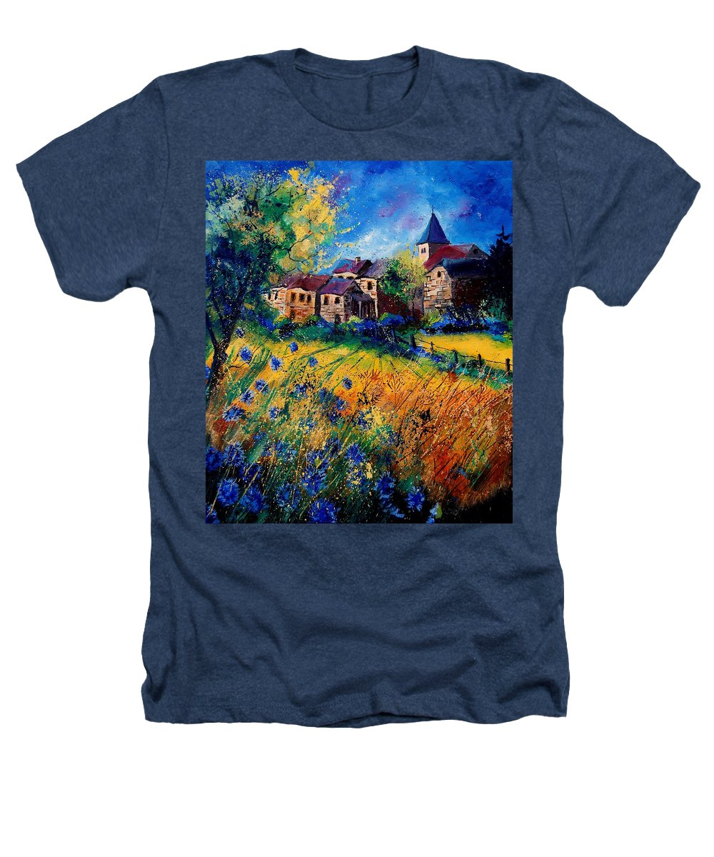 Tree Heathers T-Shirt featuring the painting Awagne 67 by Pol Ledent