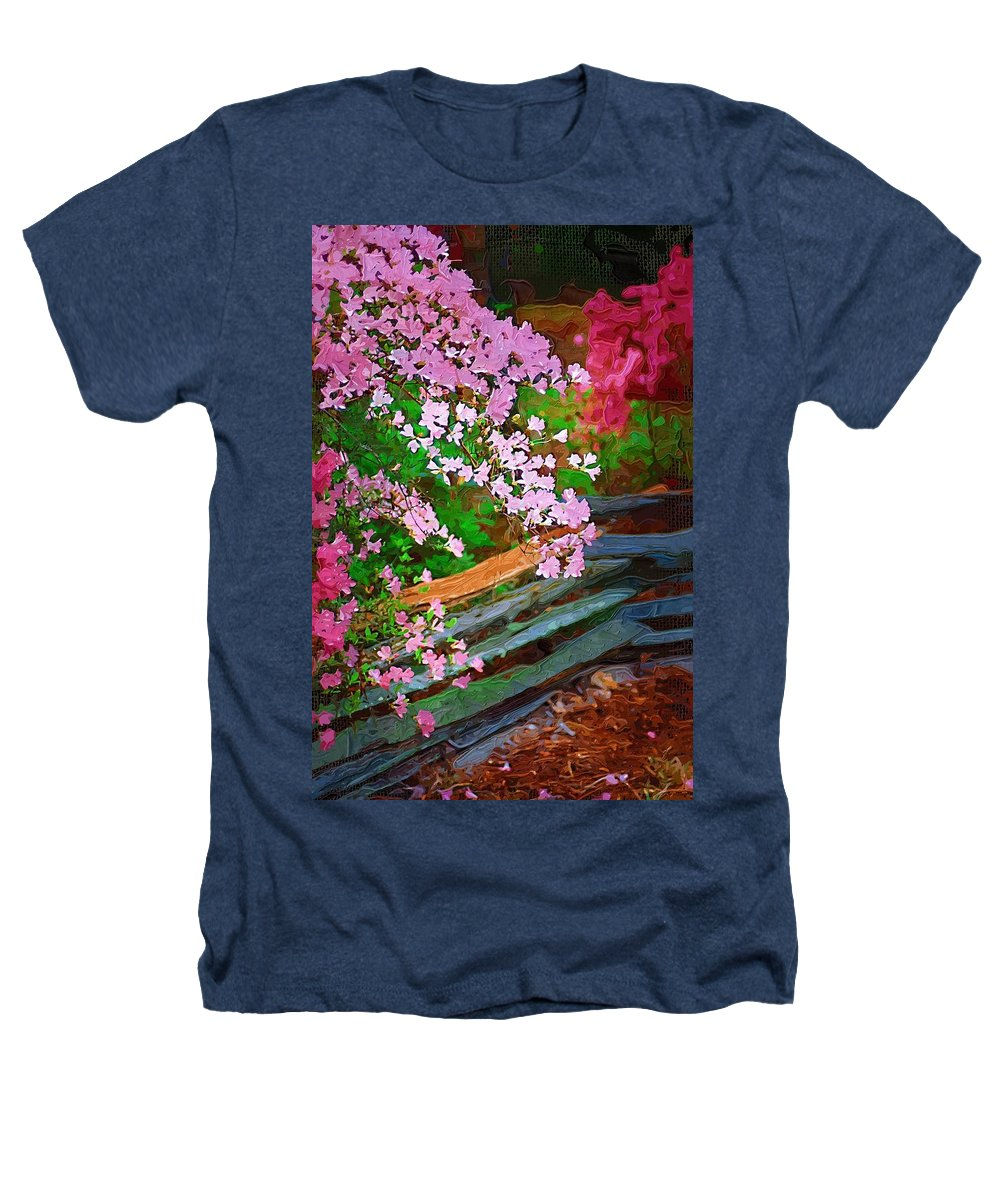 Flowers Heathers T-Shirt featuring the photograph Azaleas Over The Fence by Donna Bentley