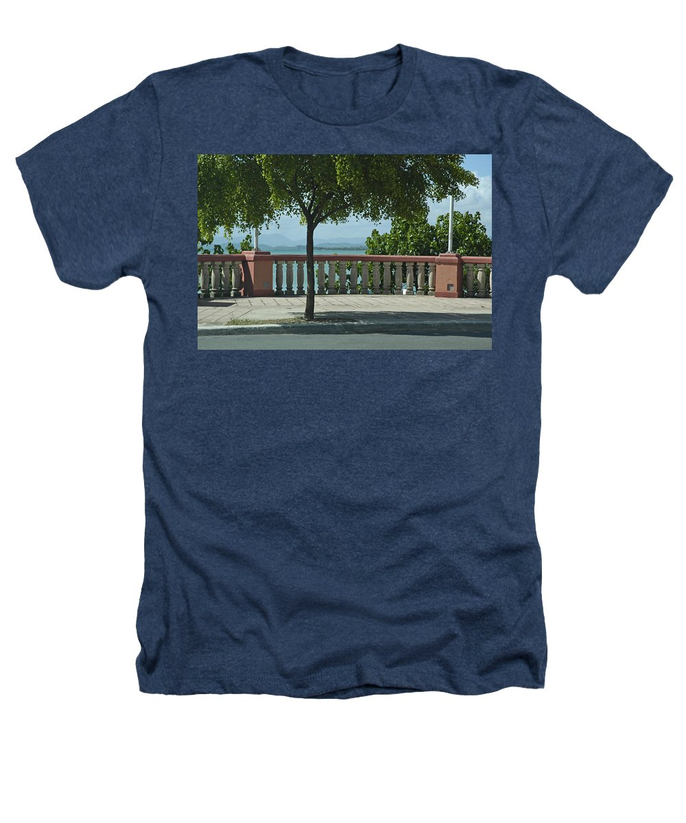 Landscape Heathers T-Shirt featuring the photograph Balcony On The Beach In Naguabo Puerto Rico by Tito Santiago
