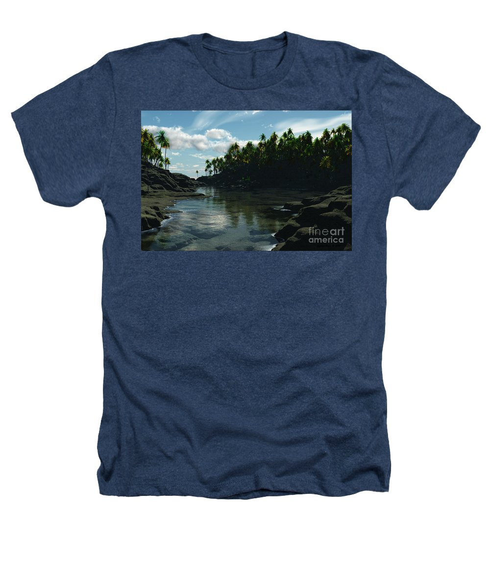 Rivers Heathers T-Shirt featuring the digital art Banana River by Richard Rizzo