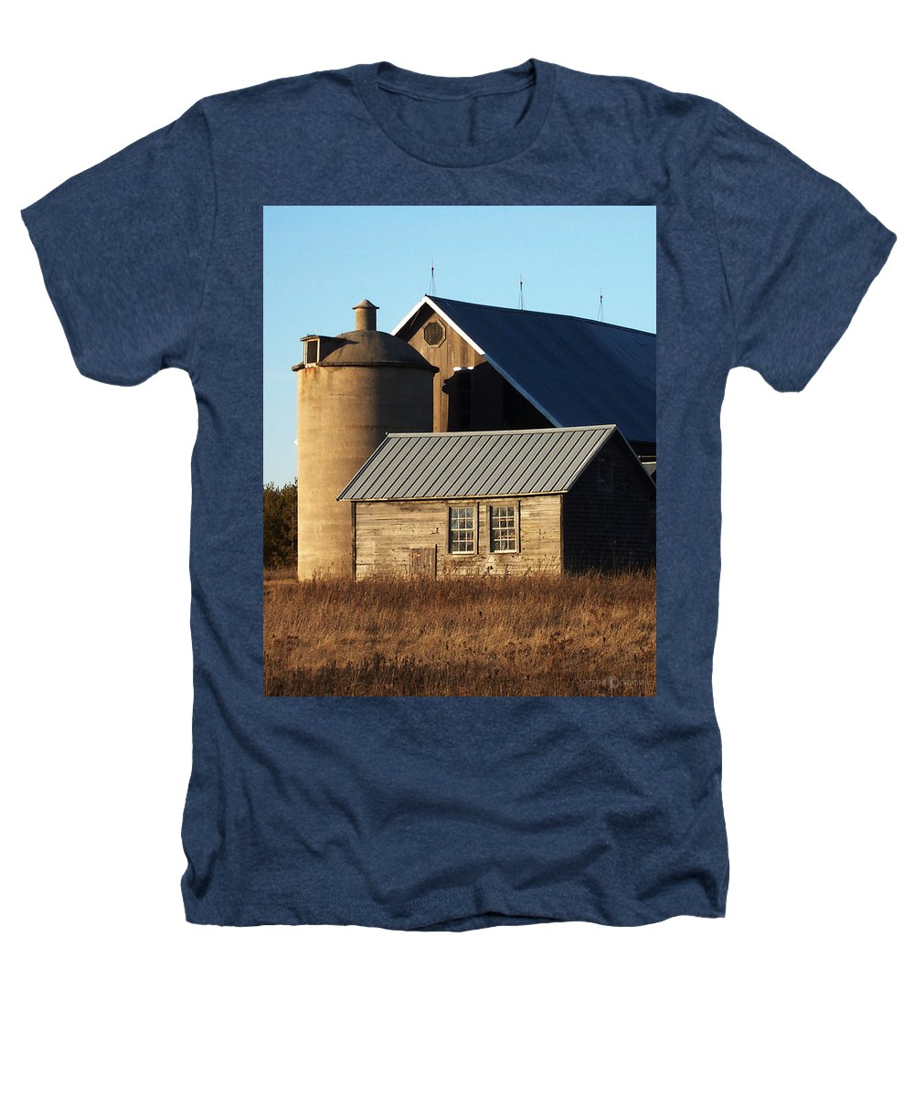 Barn Heathers T-Shirt featuring the photograph Barn At 57 And Q by Tim Nyberg