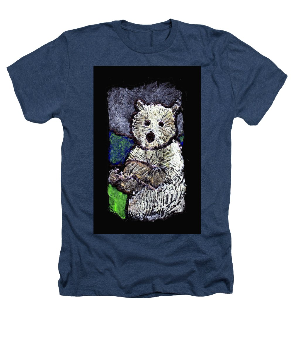 Bear Heathers T-Shirt featuring the painting Bearly Scary by Wayne Potrafka