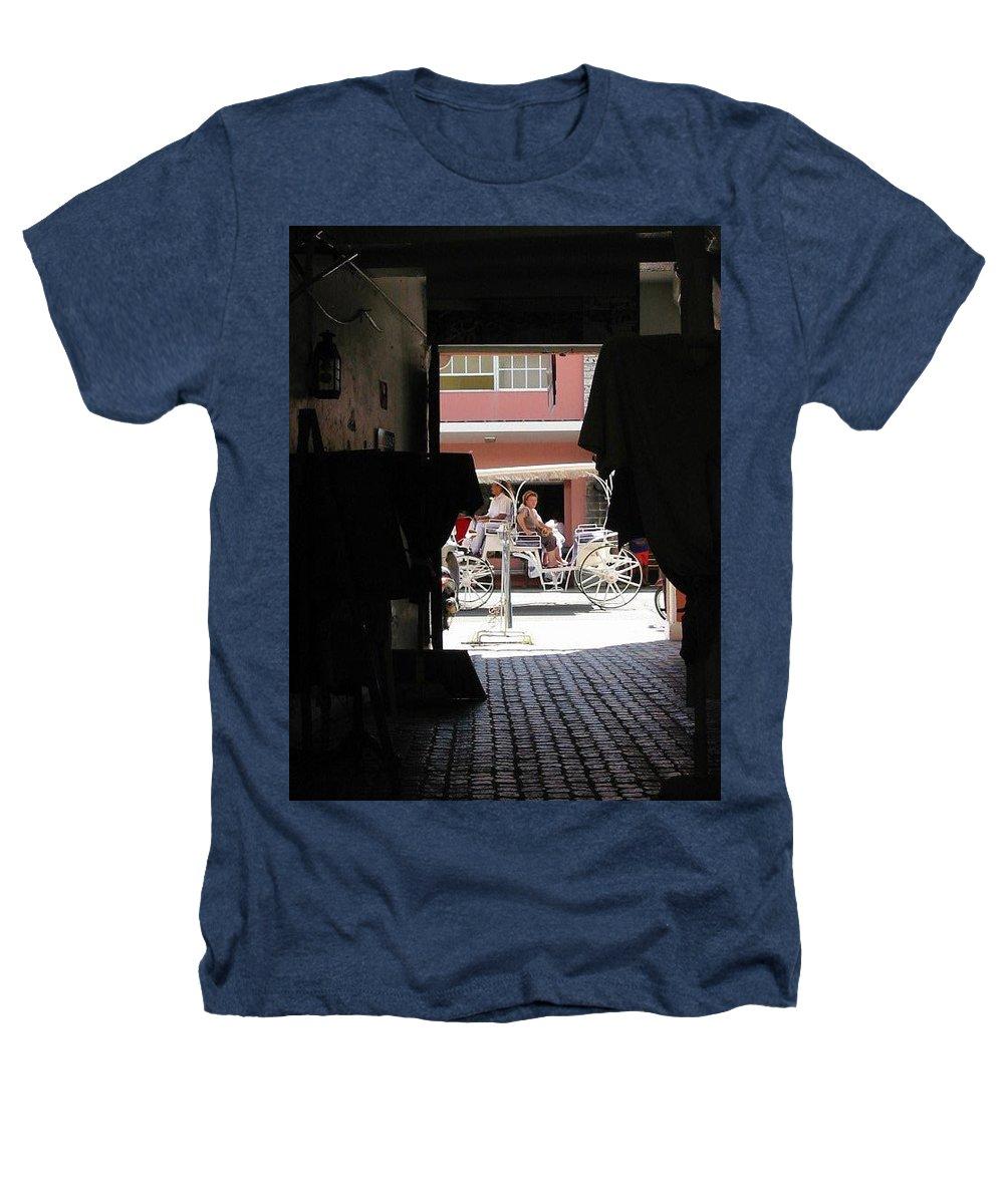 Bermuda Heathers T-Shirt featuring the photograph Bermuda Carriage by Ian MacDonald