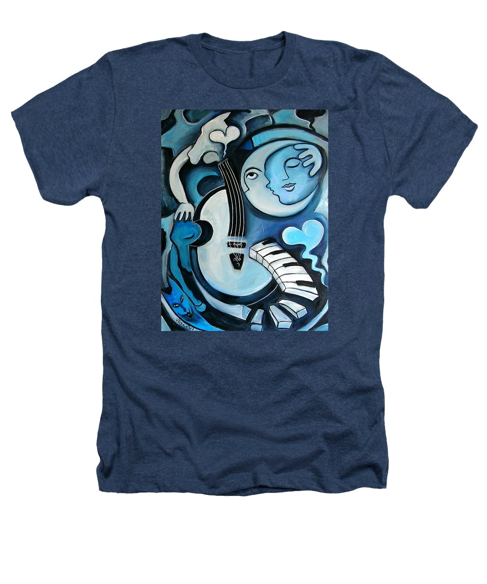 Abstract Heathers T-Shirt featuring the painting Black And Bleu by Valerie Vescovi