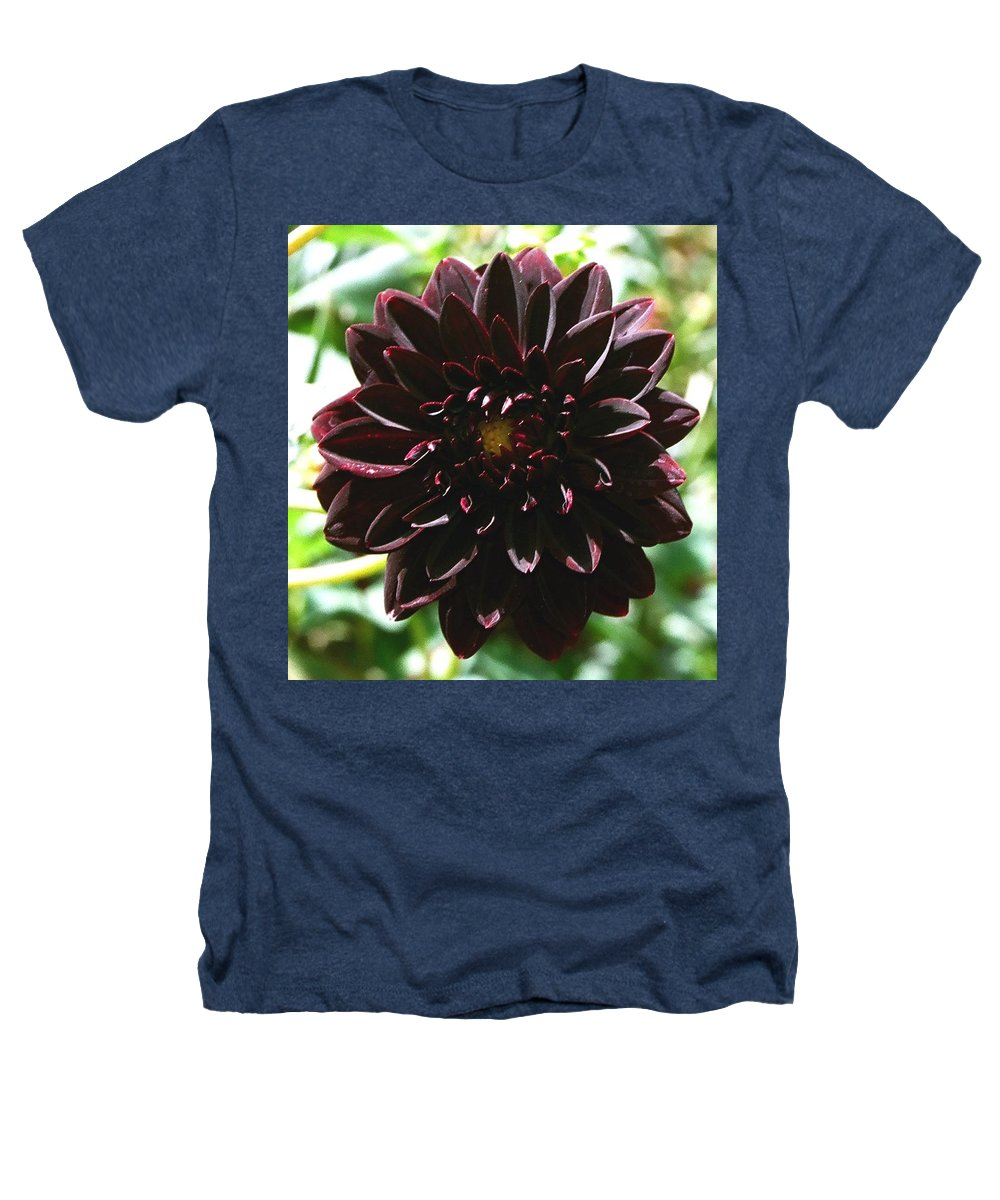 Flower Heathers T-Shirt featuring the photograph Black Dalia by Dean Triolo