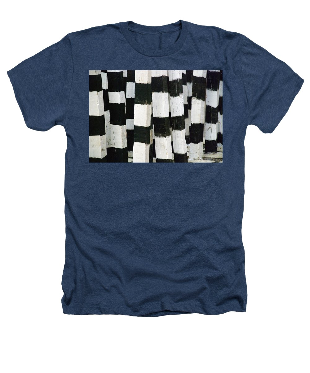 Skip Hunt Heathers T-Shirt featuring the photograph Blanco Y Negro by Skip Hunt