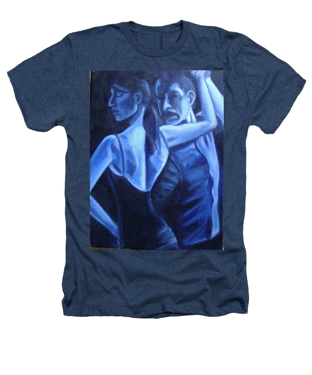 Heathers T-Shirt featuring the painting Bludance by Toni Berry