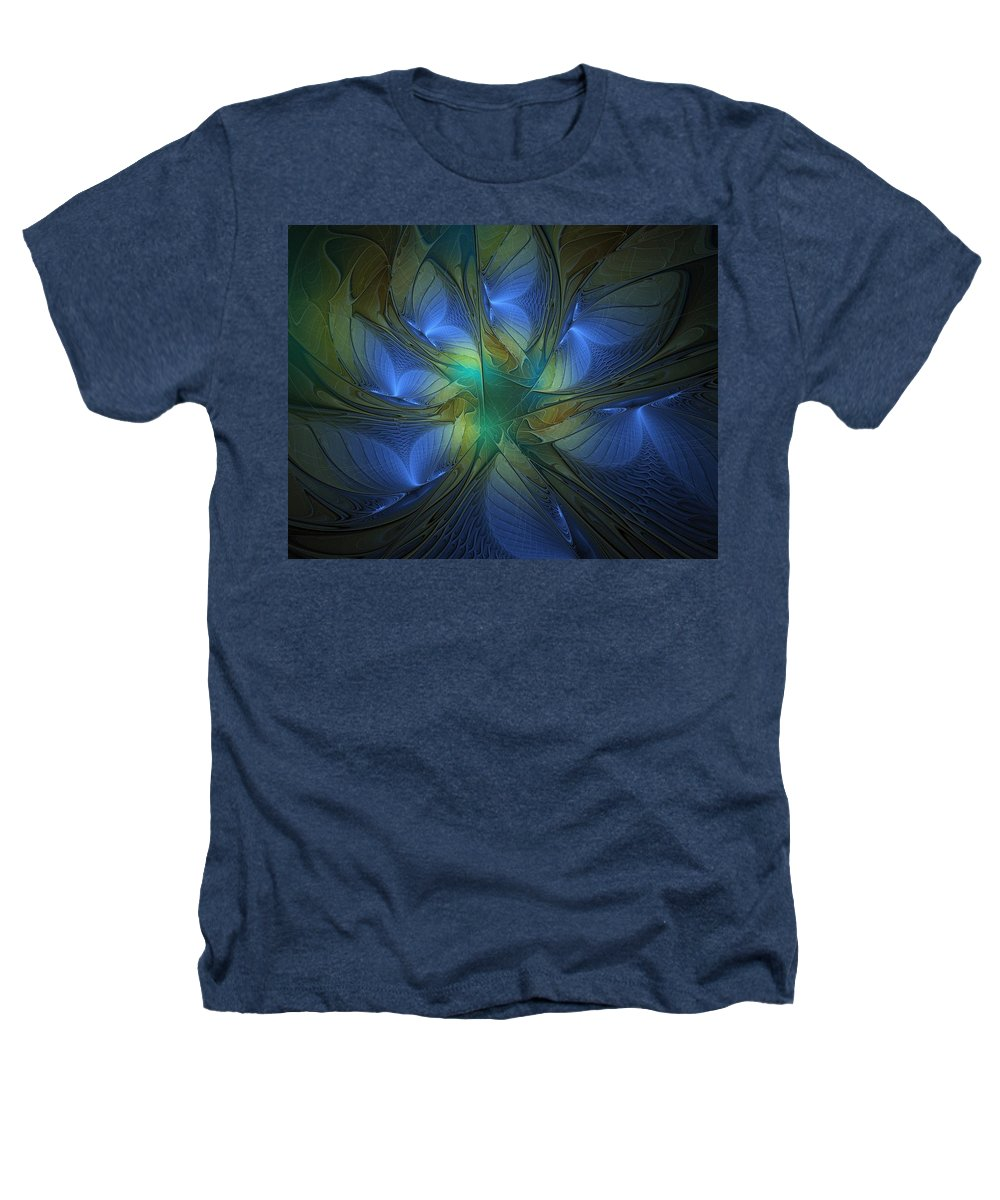 Digital Art Heathers T-Shirt featuring the digital art Blue Butterflies by Amanda Moore