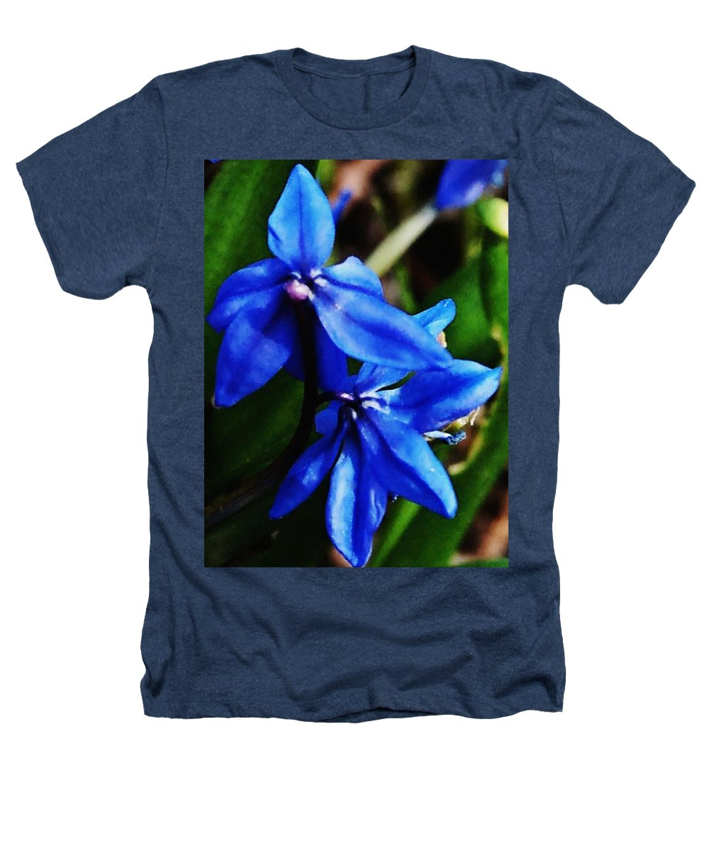 Digital Photo Heathers T-Shirt featuring the photograph Blue Floral by David Lane