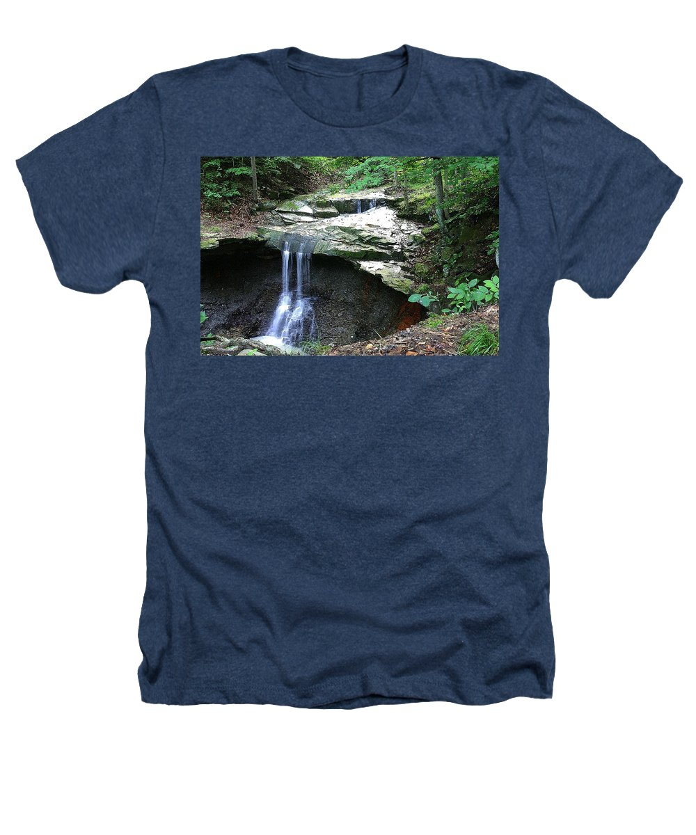 Waterfall. Water Heathers T-Shirt featuring the photograph Blue Hen Falls by Nelson Strong