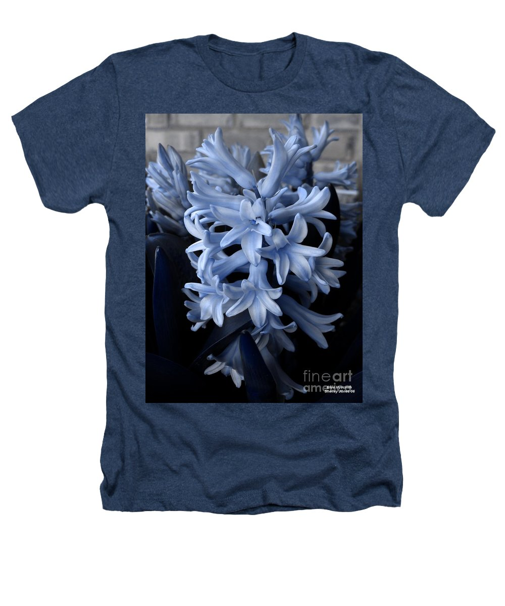 Blue Heathers T-Shirt featuring the photograph Blue Hyacinth by Shelley Jones