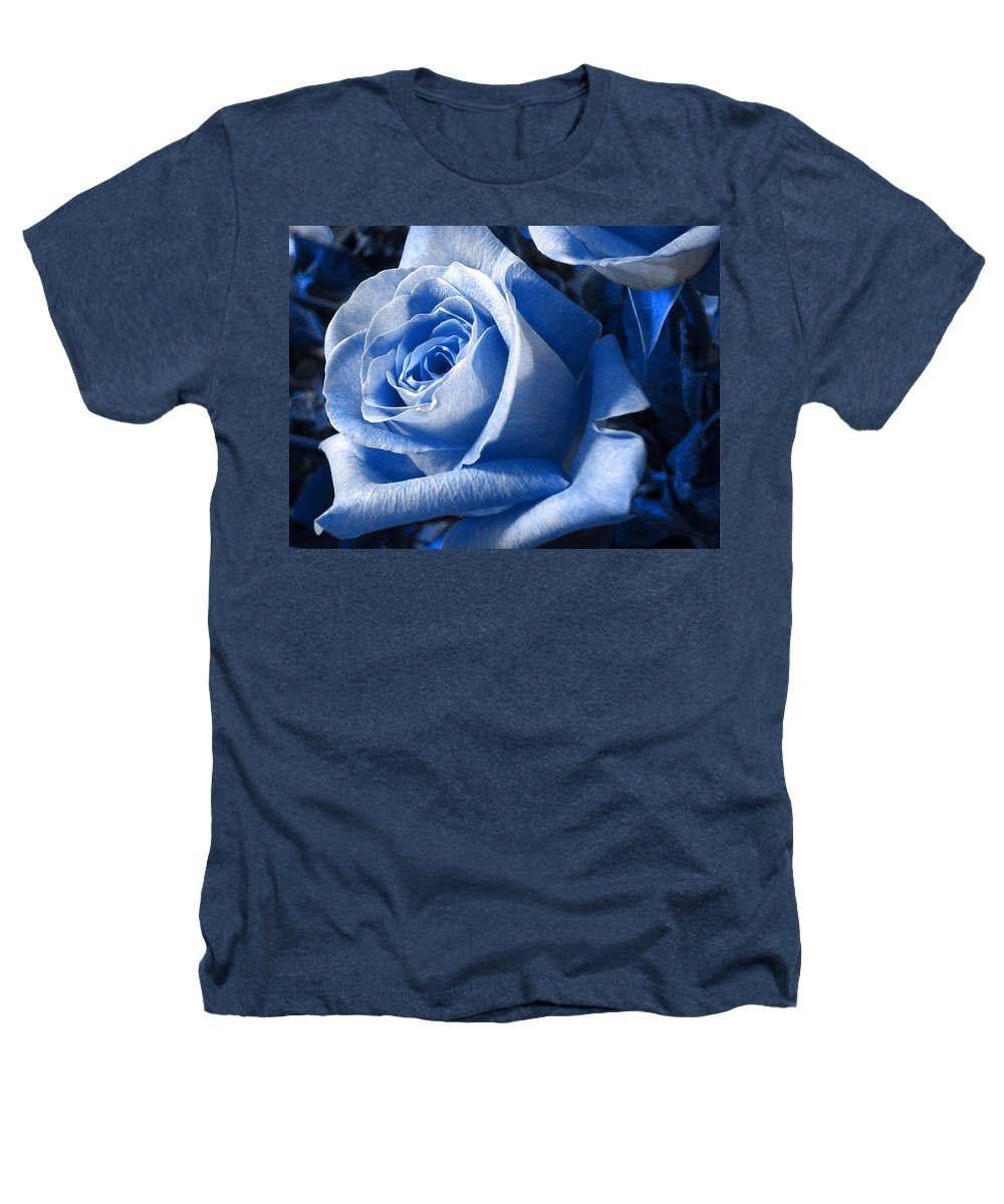Blue Heathers T-Shirt featuring the photograph Blue Rose by Shelley Jones