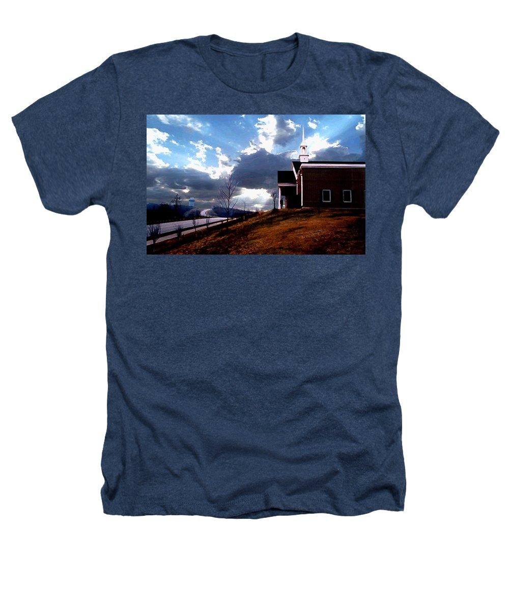 Landscape Heathers T-Shirt featuring the photograph Blue Springs Landscape by Steve Karol