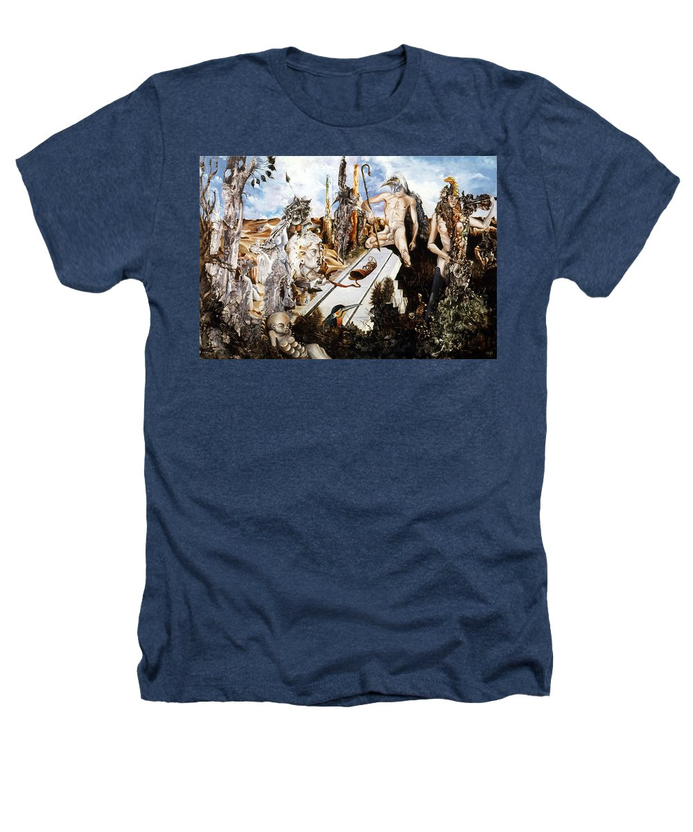 Surrealism Heathers T-Shirt featuring the painting Bogomils Court by Otto Rapp