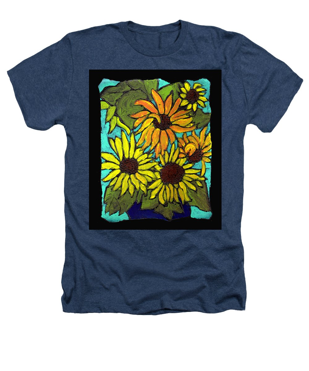 Flowers Heathers T-Shirt featuring the painting Boquet Of Sunshine by Wayne Potrafka
