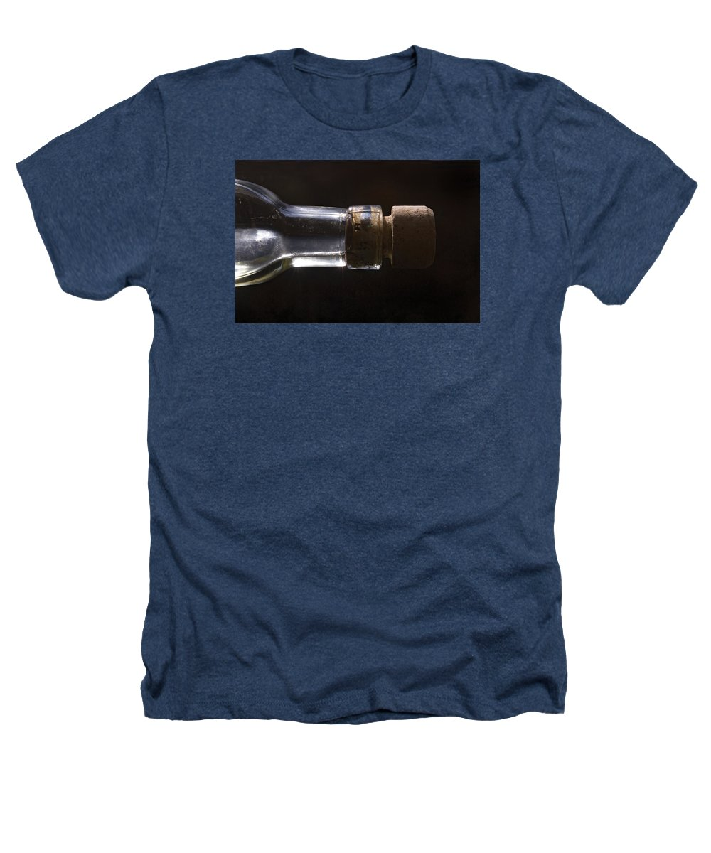 Cork Heathers T-Shirt featuring the photograph Bottle And Cork-1 by Steve Somerville