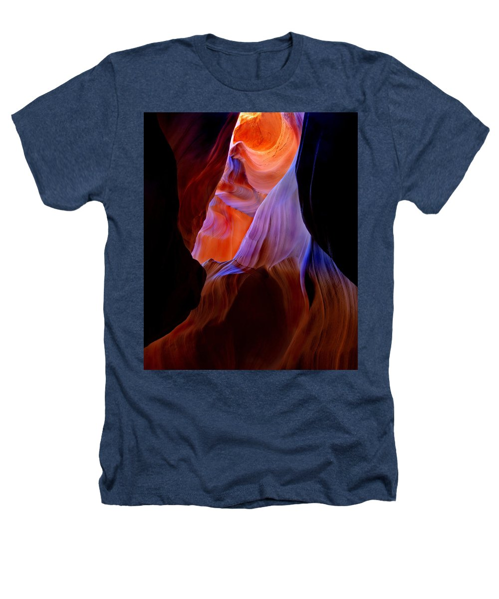 Canyon Heathers T-Shirt featuring the photograph Bottled Light by Mike Dawson