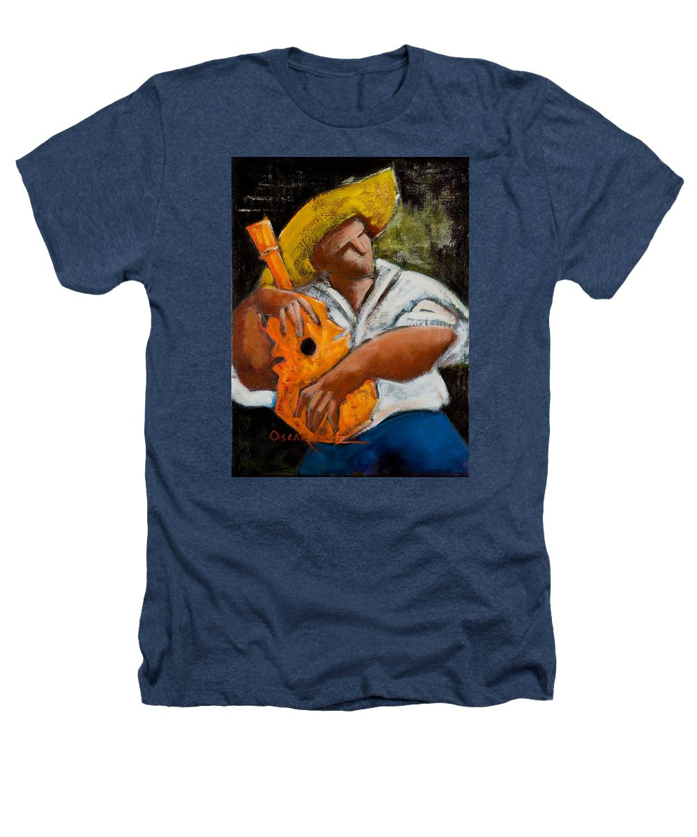Puerto Rico Heathers T-Shirt featuring the painting Bravado Alla Prima by Oscar Ortiz
