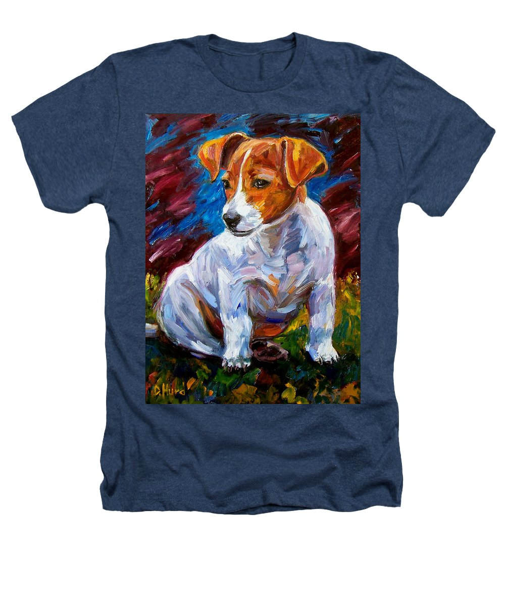 Dog Art Heathers T-Shirt featuring the painting Break Time by Debra Hurd