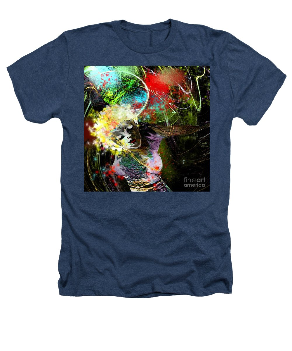 Fantasy Heathers T-Shirt featuring the painting Bride Of Halos by Miki De Goodaboom