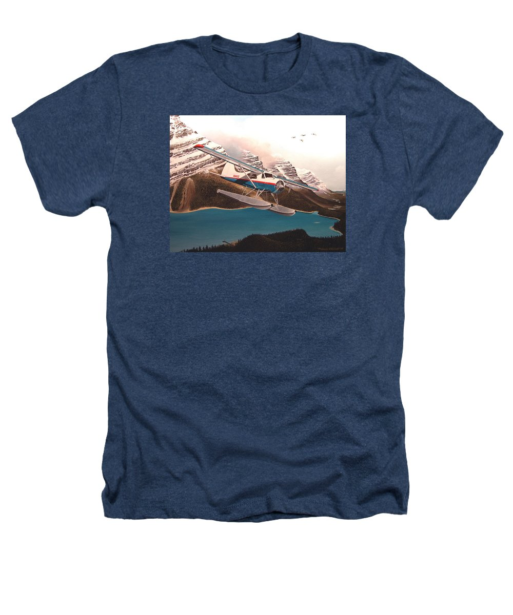 Aviation Heathers T-Shirt featuring the painting Bringing Home The Groceries by Marc Stewart