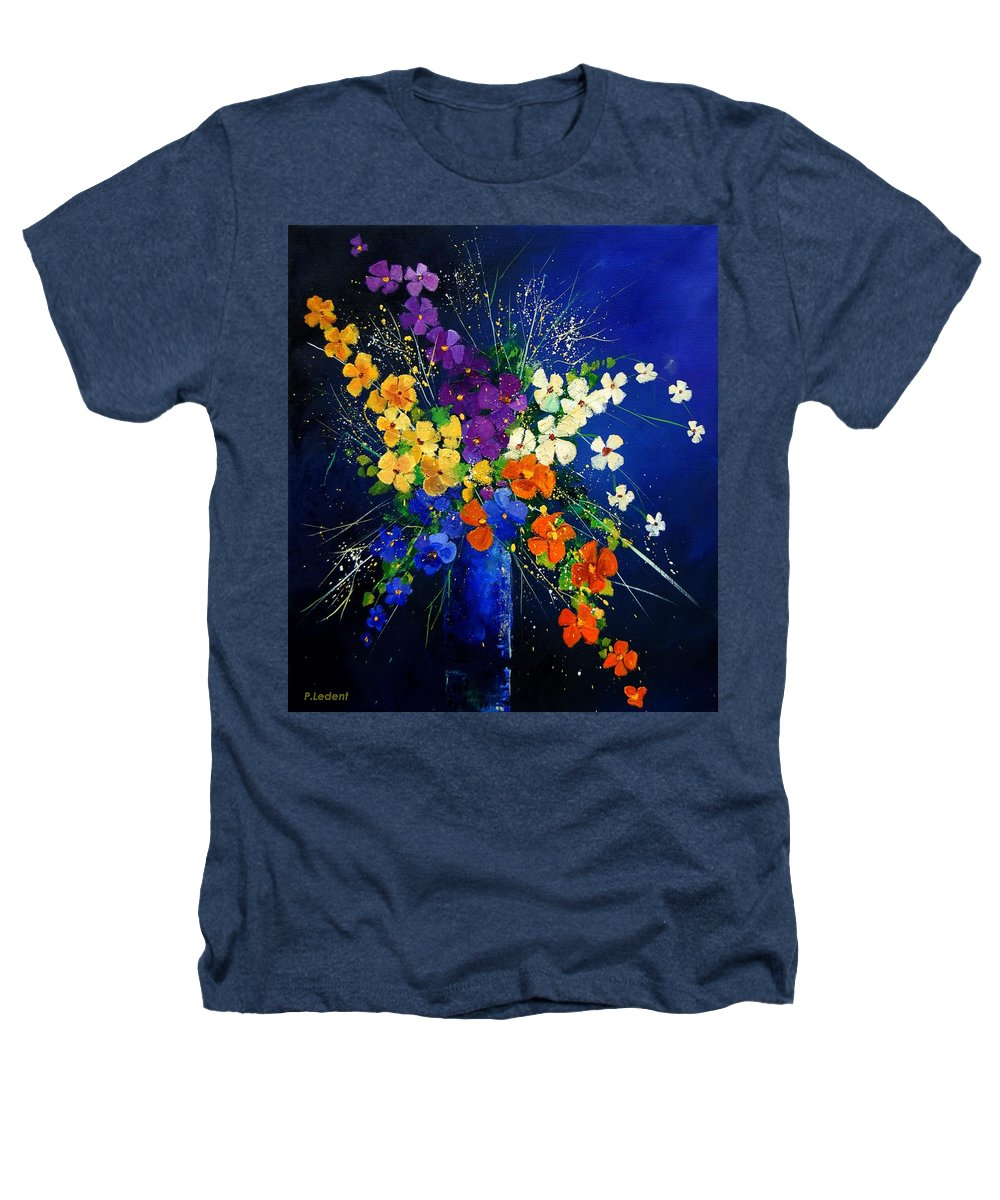 Poppies Heathers T-Shirt featuring the print Bunch 0408 by Pol Ledent