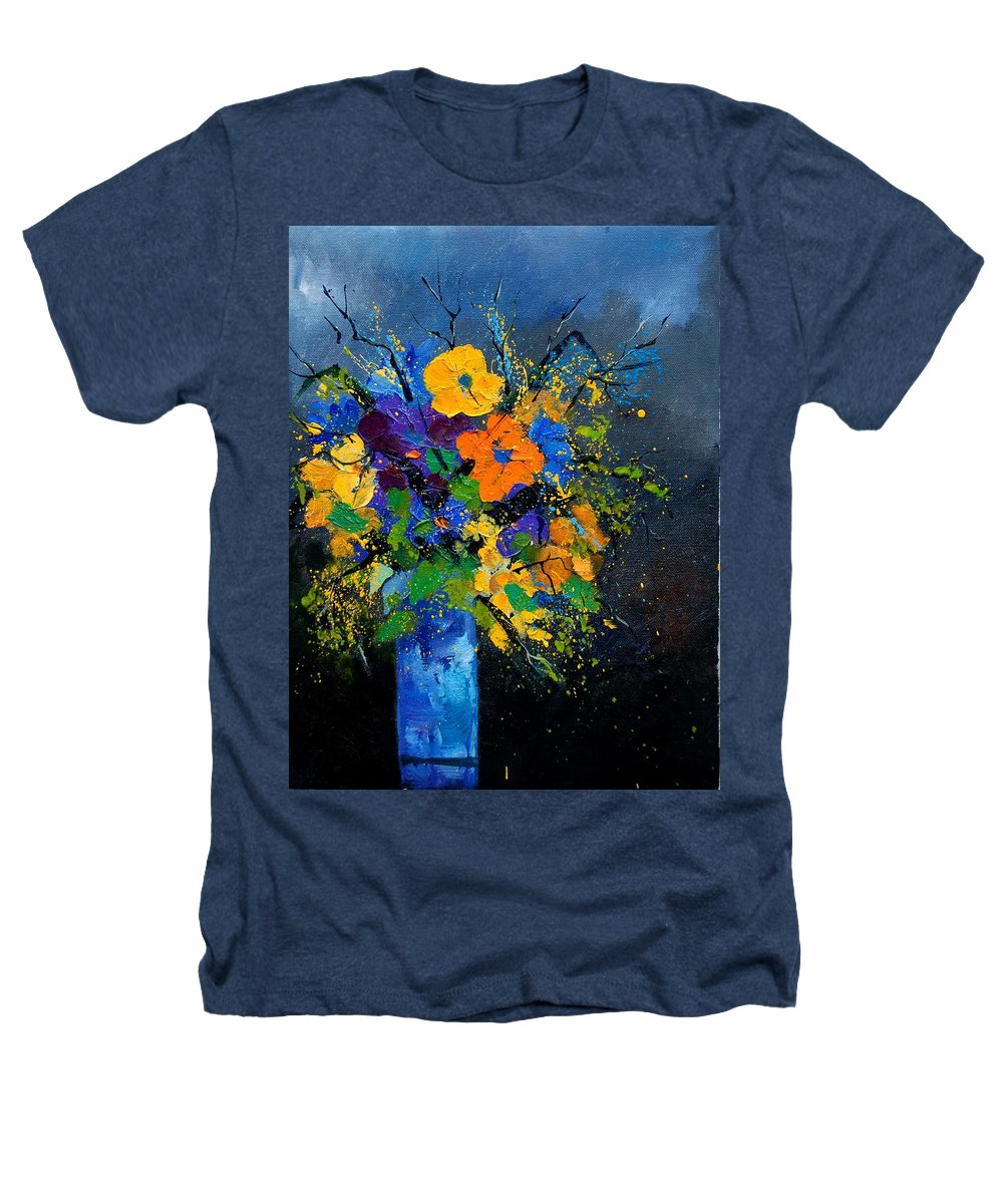 Poppies Heathers T-Shirt featuring the painting Bunch 1007 by Pol Ledent