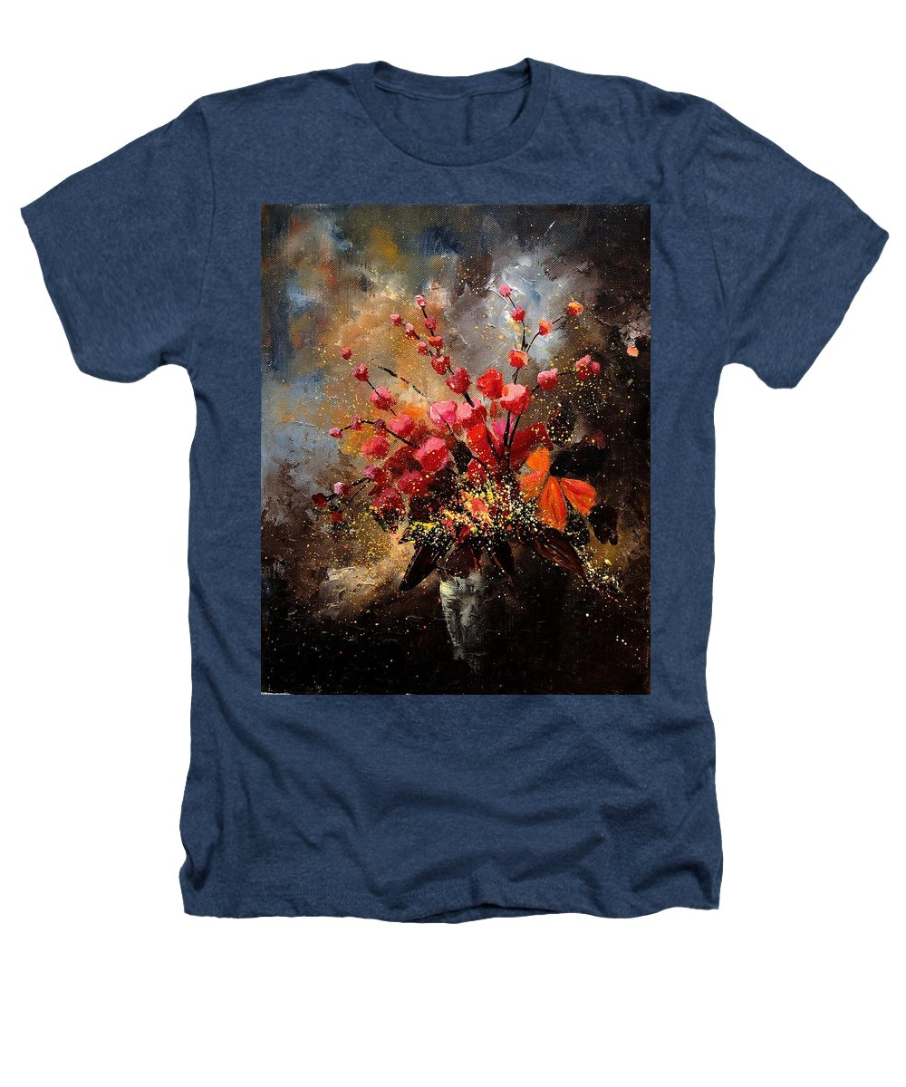 Poppies Heathers T-Shirt featuring the painting Bunch 1207 by Pol Ledent