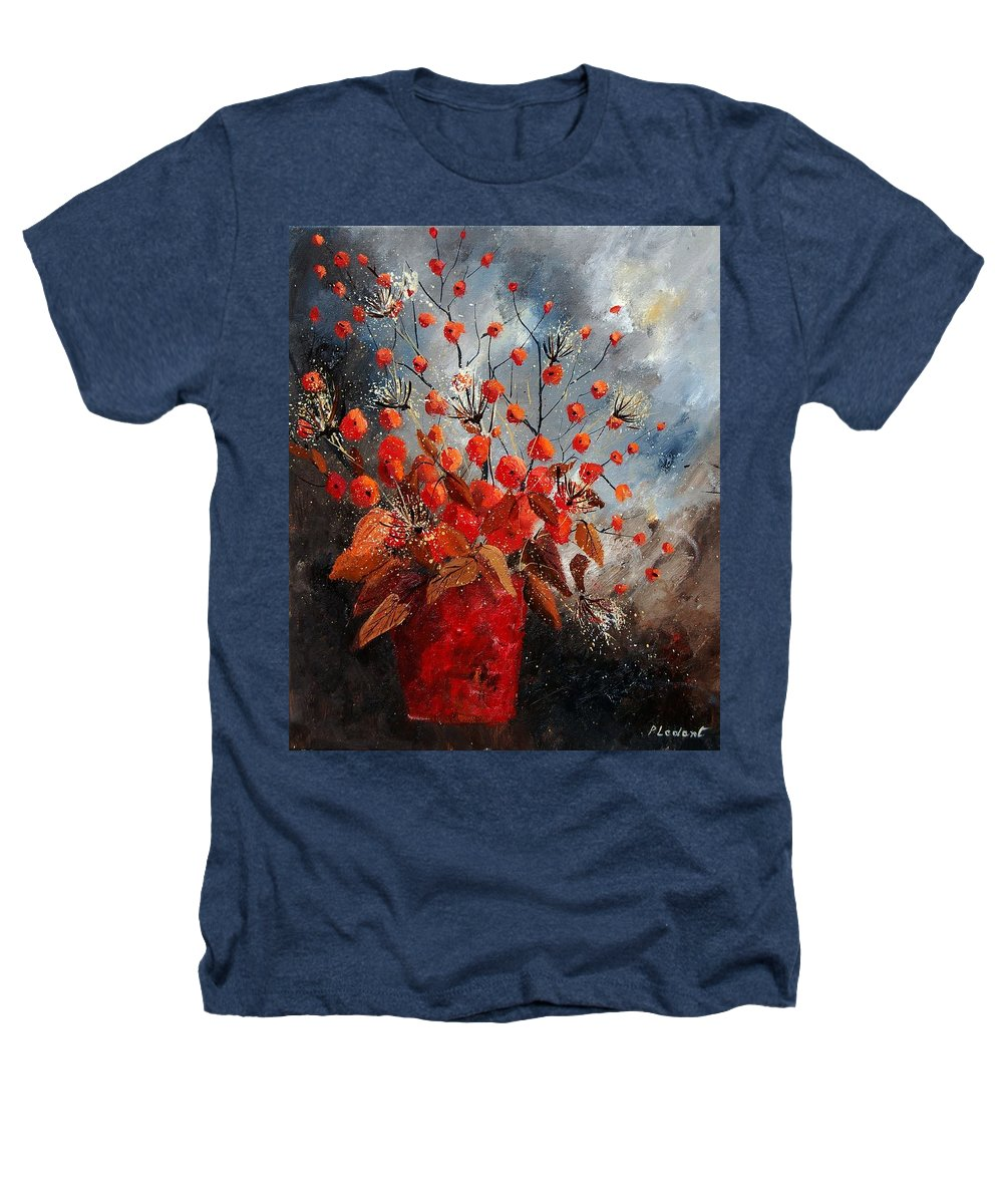 Flowers Heathers T-Shirt featuring the painting Bunch 560608 by Pol Ledent