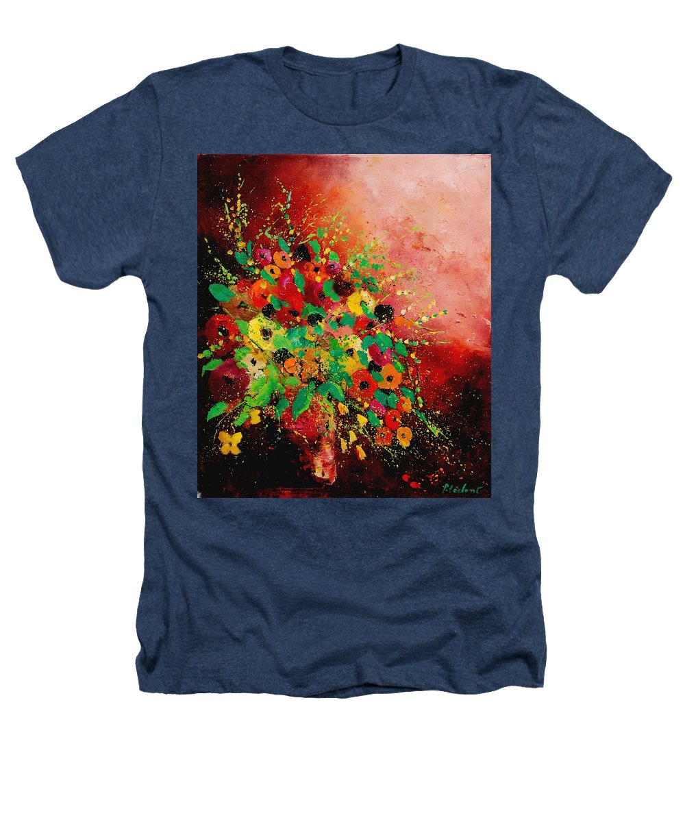 Flowers Heathers T-Shirt featuring the painting Bunch Of Flowers 0507 by Pol Ledent