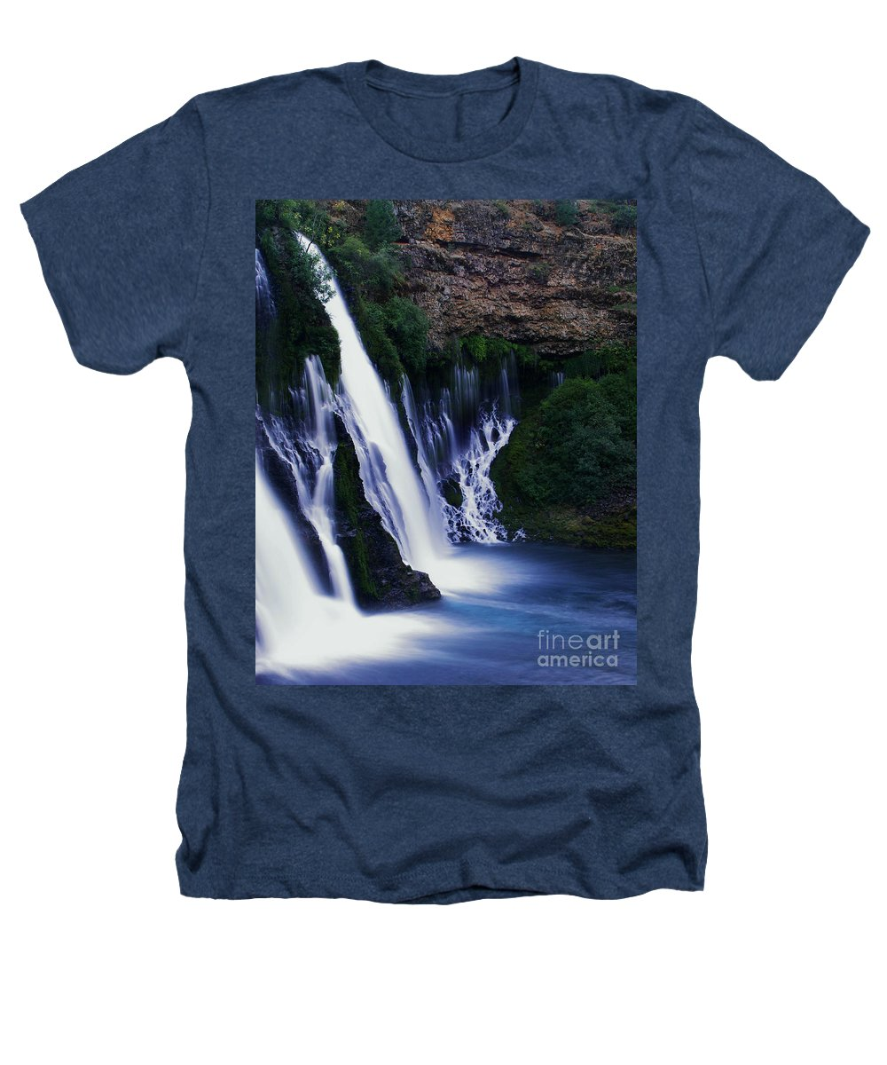 River Heathers T-Shirt featuring the photograph Burney Blues by Peter Piatt