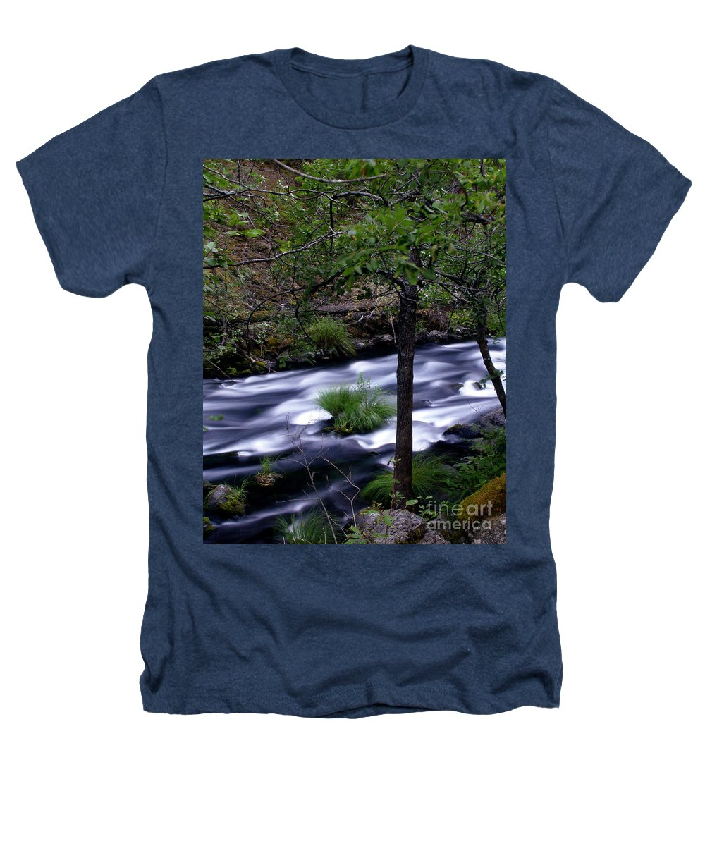 River Heathers T-Shirt featuring the photograph Burney Creek by Peter Piatt