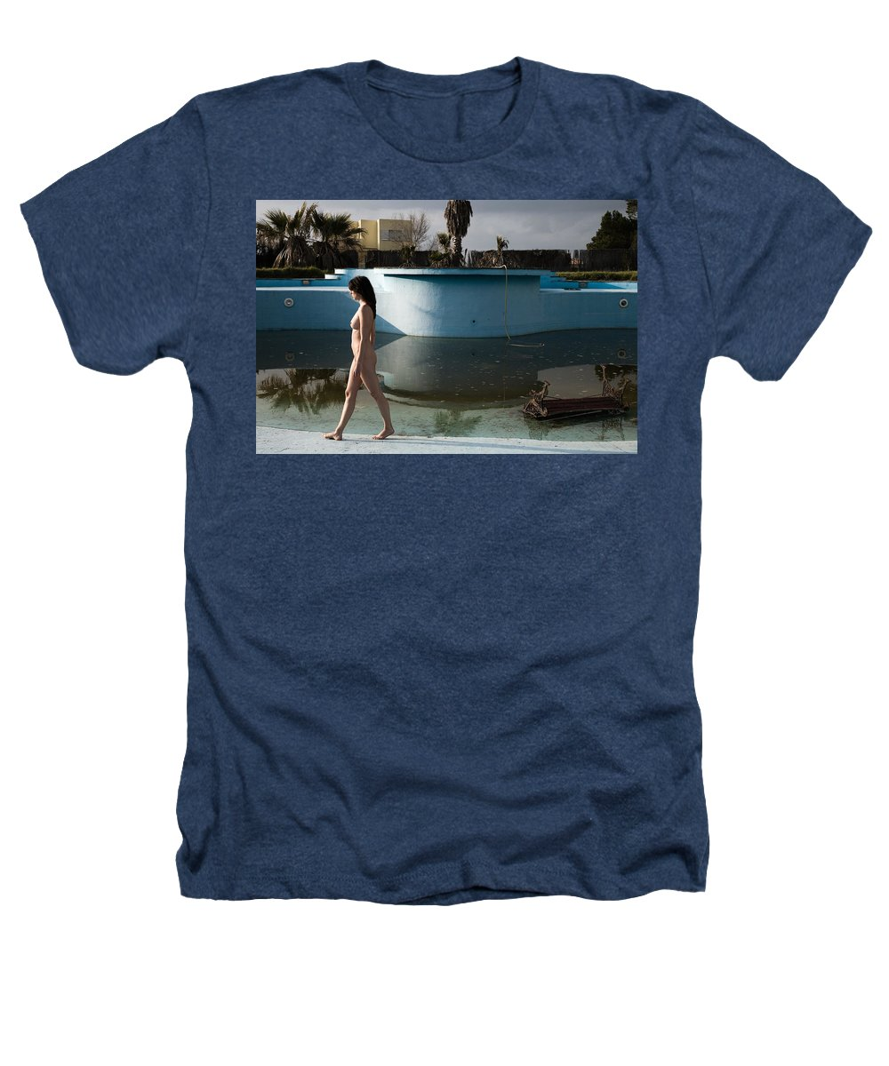 Nudes Heathers T-Shirt featuring the photograph By The Old Pool by Olivier De Rycke