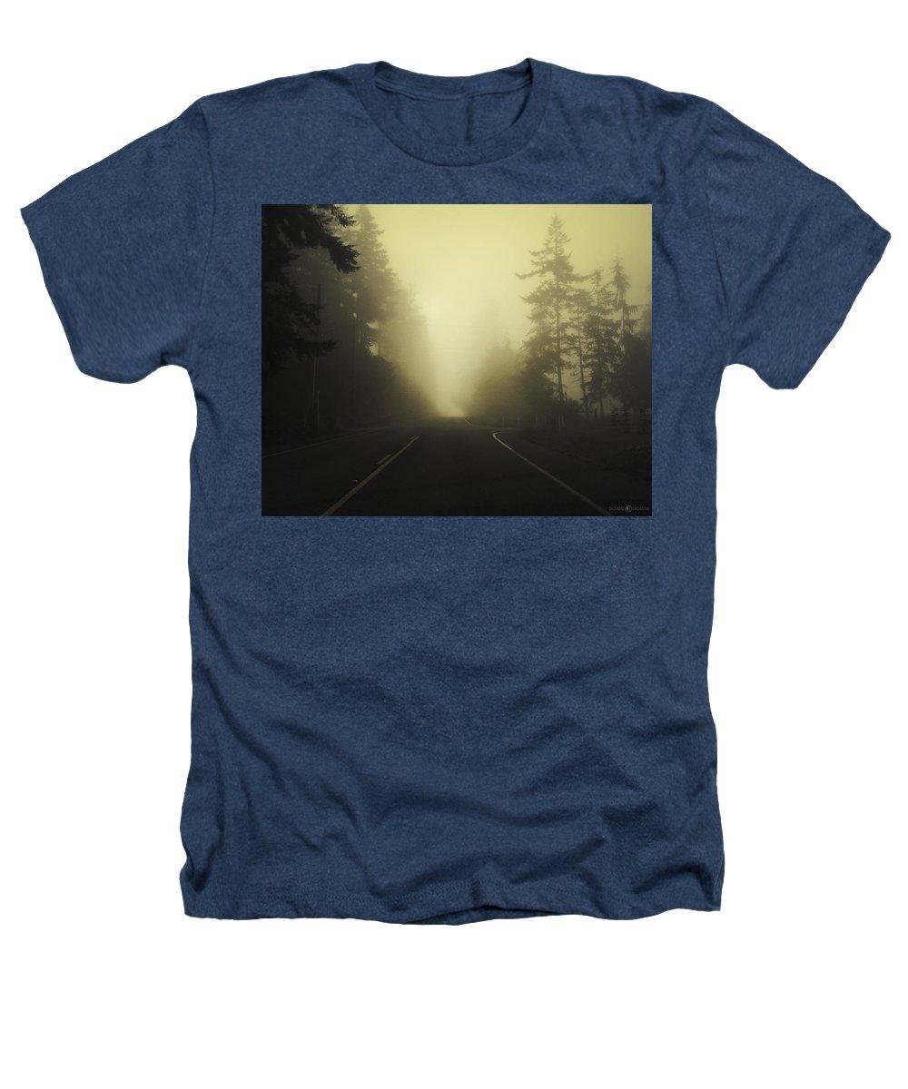 Fog Heathers T-Shirt featuring the photograph Camano Island Fog by Tim Nyberg