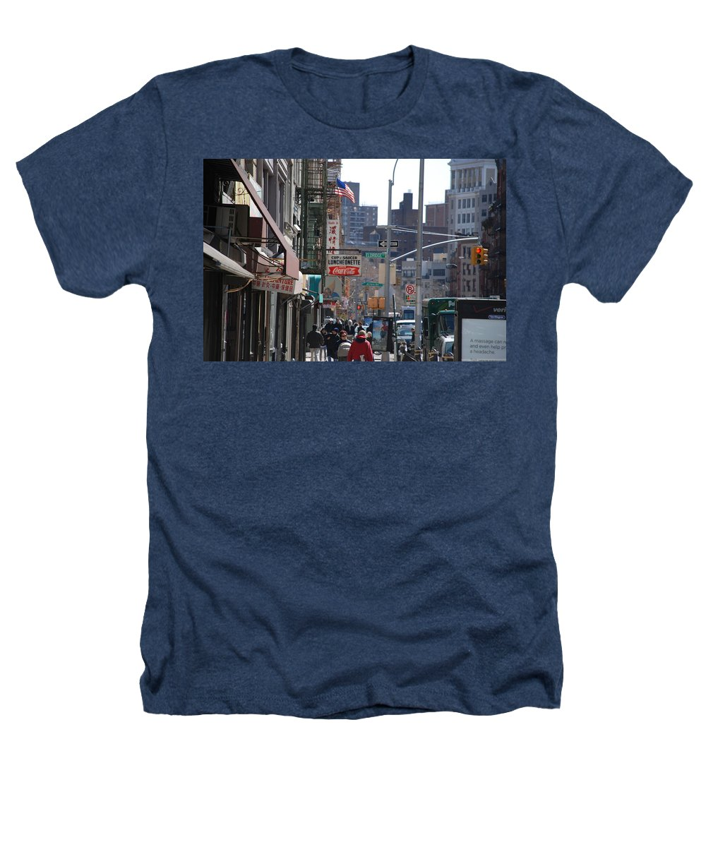 Architecture Heathers T-Shirt featuring the photograph Canal And Eldridge by Rob Hans