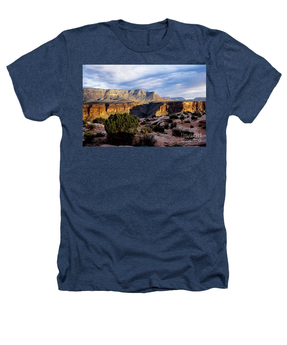 Toroweap Heathers T-Shirt featuring the photograph Canyon Walls At Toroweap by Kathy McClure