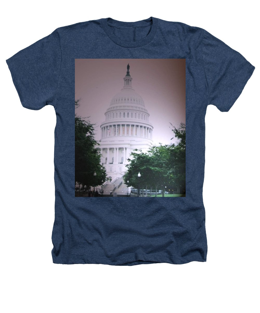 Capitol Heathers T-Shirt featuring the photograph Capitol In Pink by Pharris Art