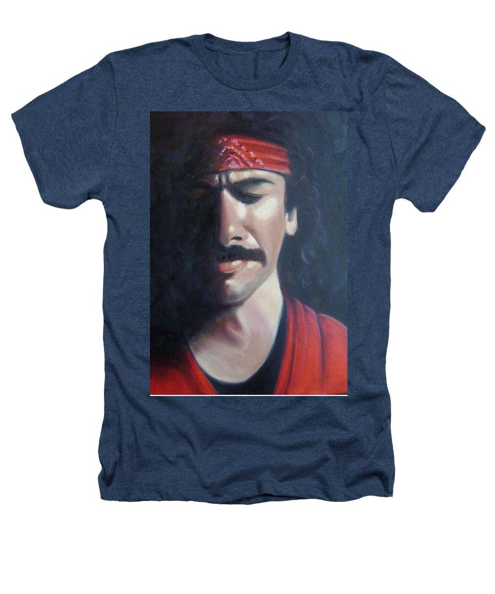 Santana Heathers T-Shirt featuring the painting Carlos Santana by Toni Berry