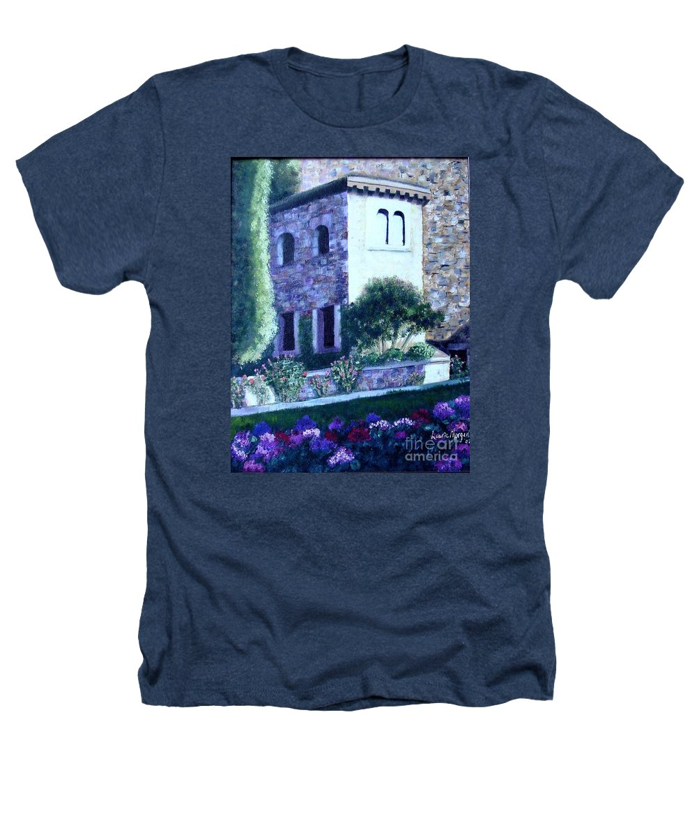 Italy Heathers T-Shirt featuring the painting Castle Sestri Levante by Laurie Morgan