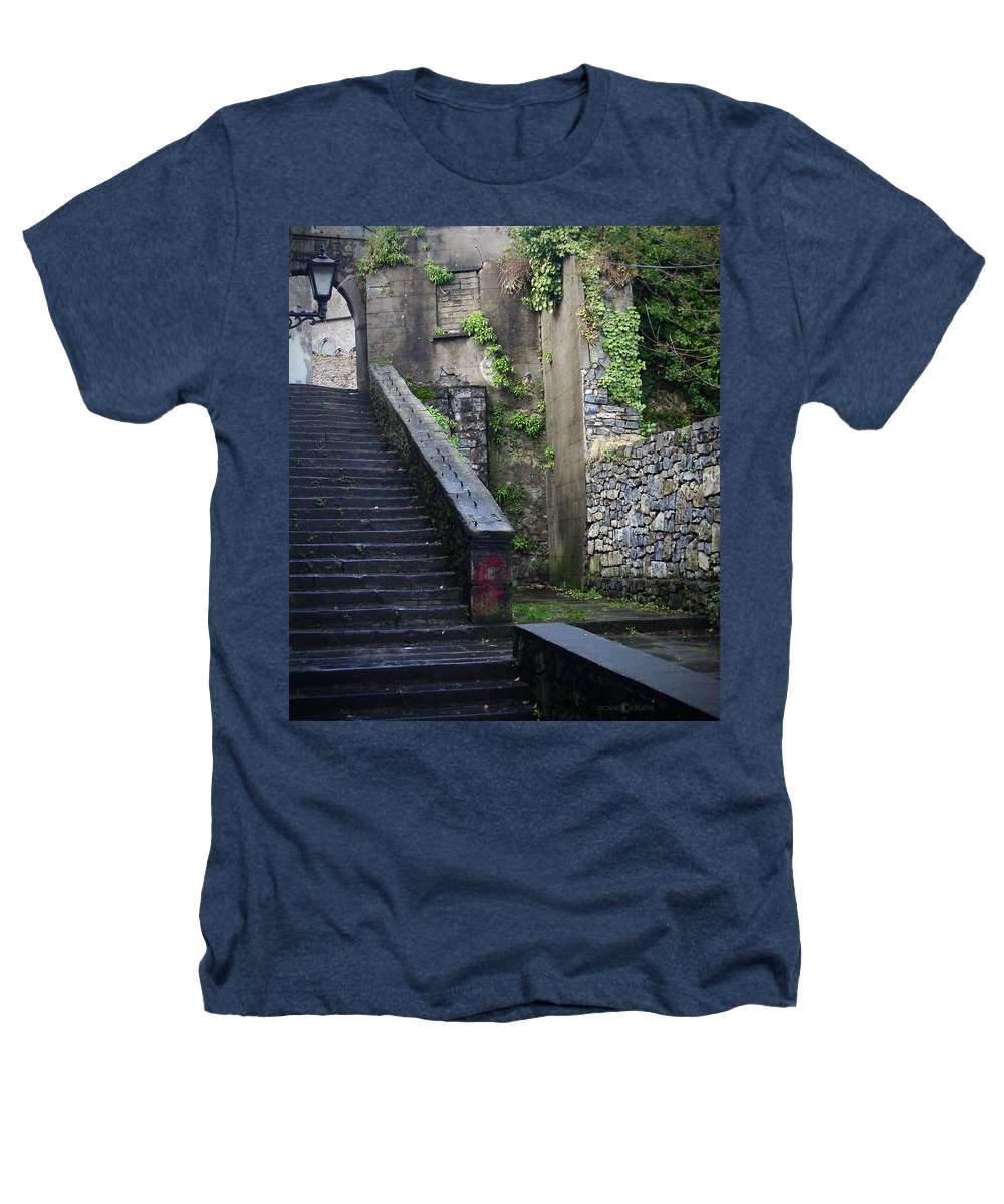 Stairs Heathers T-Shirt featuring the photograph Cathedral Stairs by Tim Nyberg