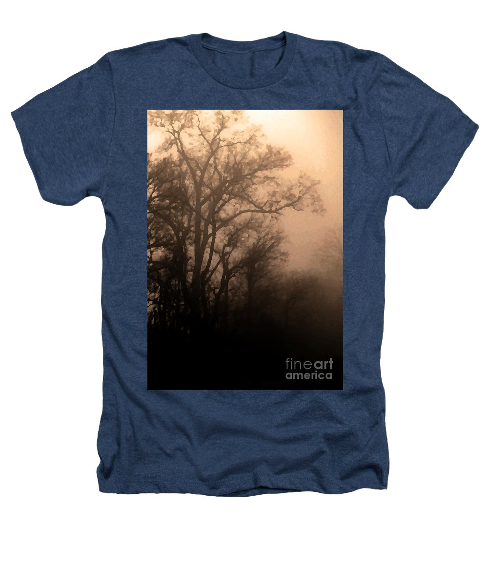 Soft Heathers T-Shirt featuring the photograph Caught Between Light And Dark by Amanda Barcon