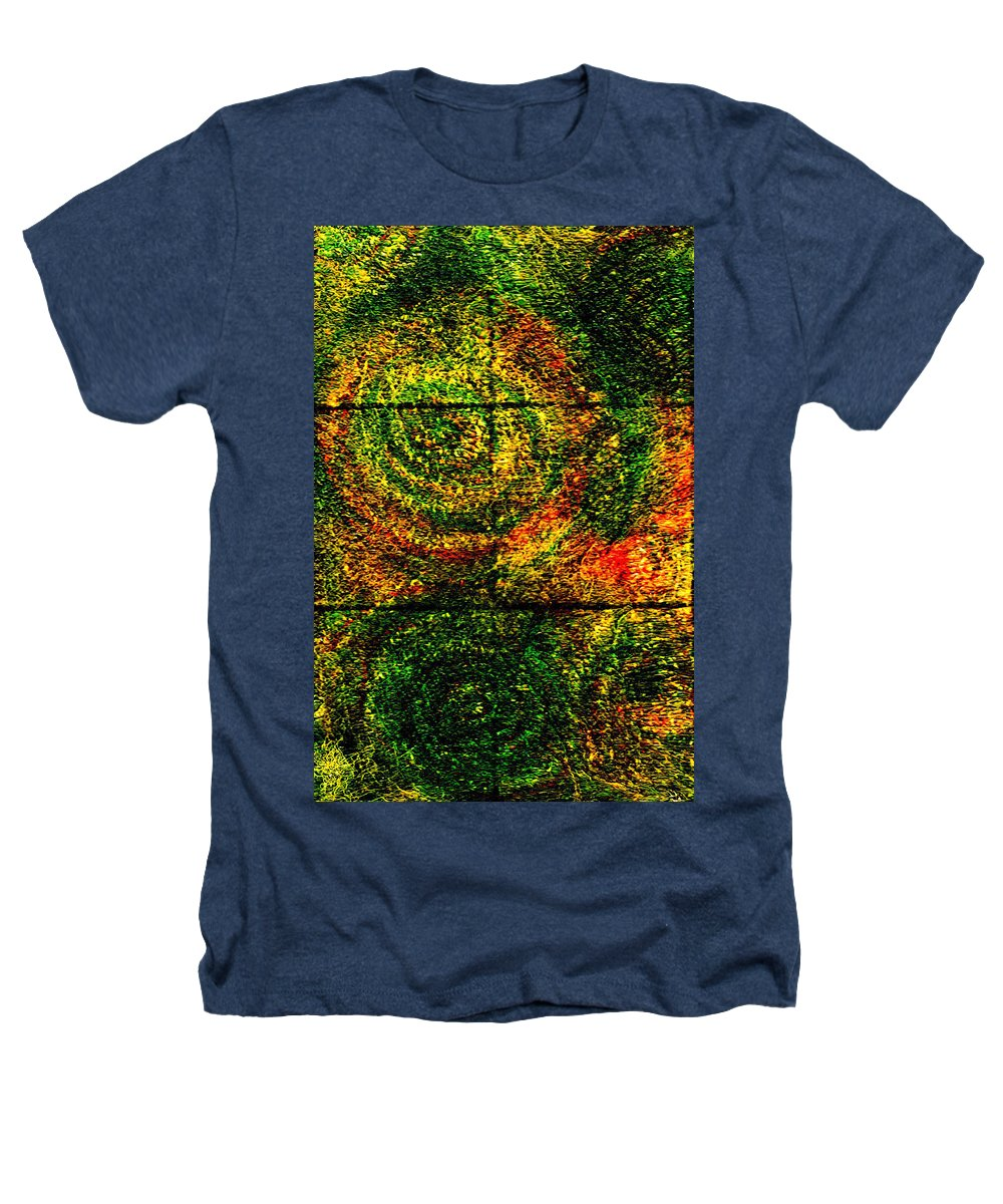 Abstract Heathers T-Shirt featuring the painting Celestial Grid by Wayne Potrafka
