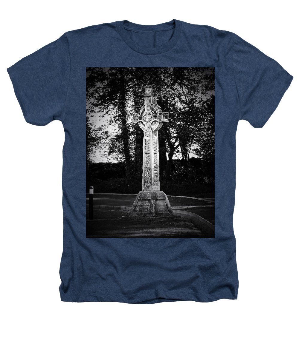 Irish Heathers T-Shirt featuring the photograph Celtic Cross In Killarney Ireland by Teresa Mucha