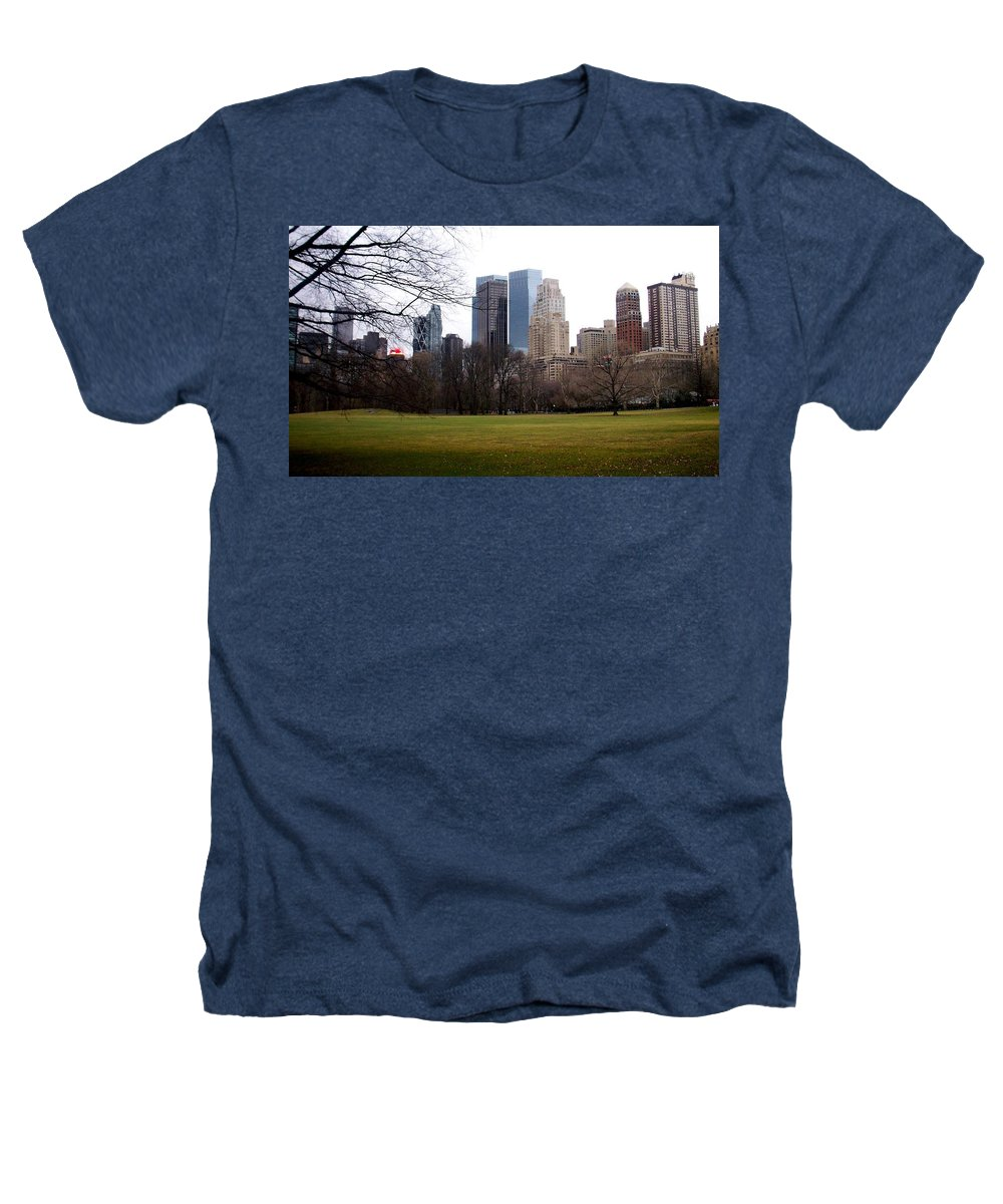 Central Park Heathers T-Shirt featuring the photograph Central Park by Anita Burgermeister