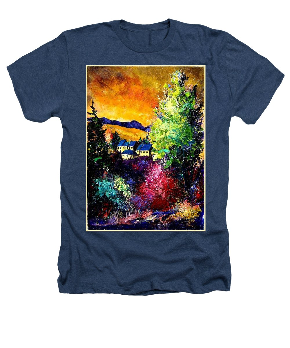 Landscape Heathers T-Shirt featuring the painting Charnoy by Pol Ledent