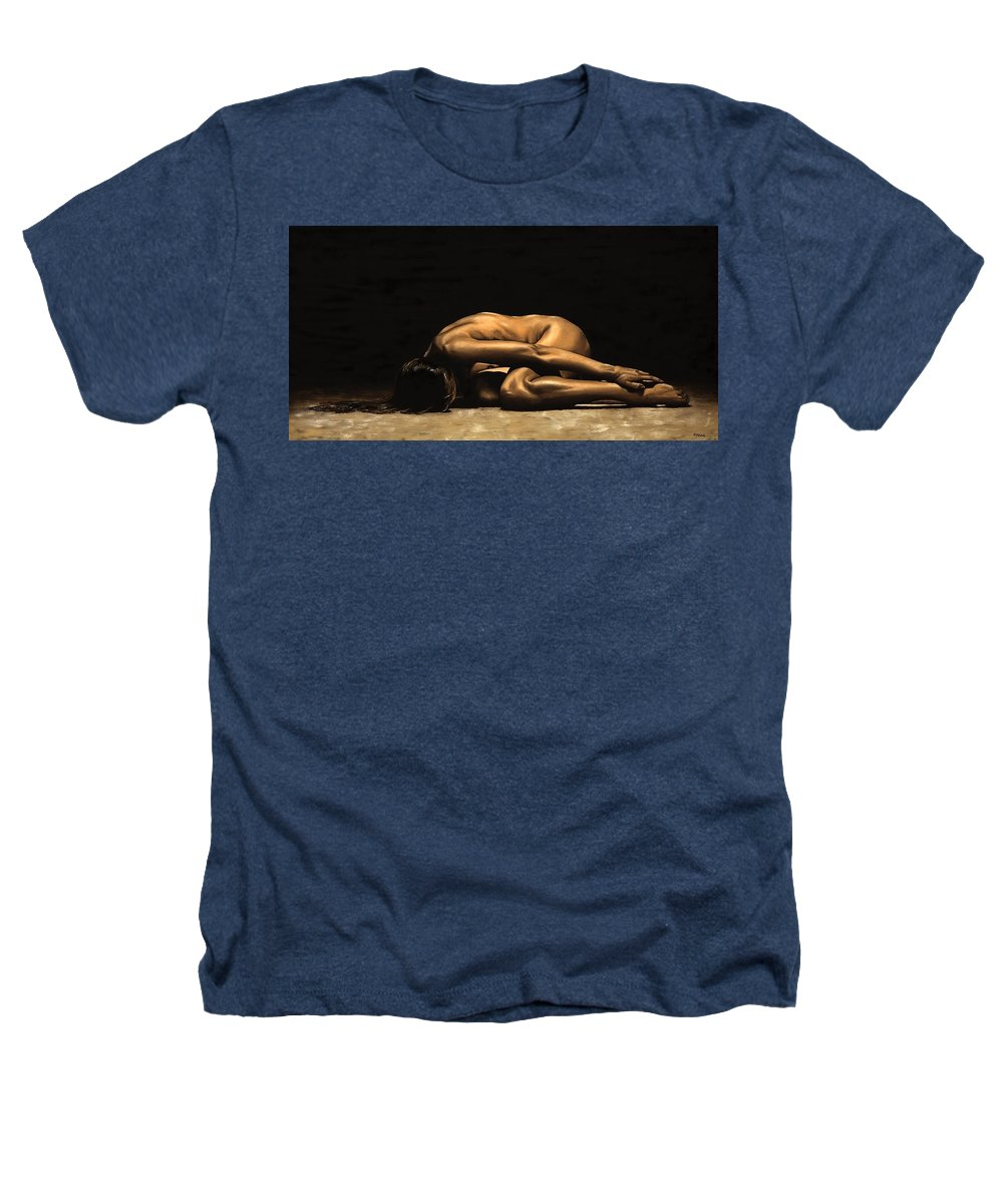 Nude Heathers T-Shirt featuring the painting Chastity by Richard Young