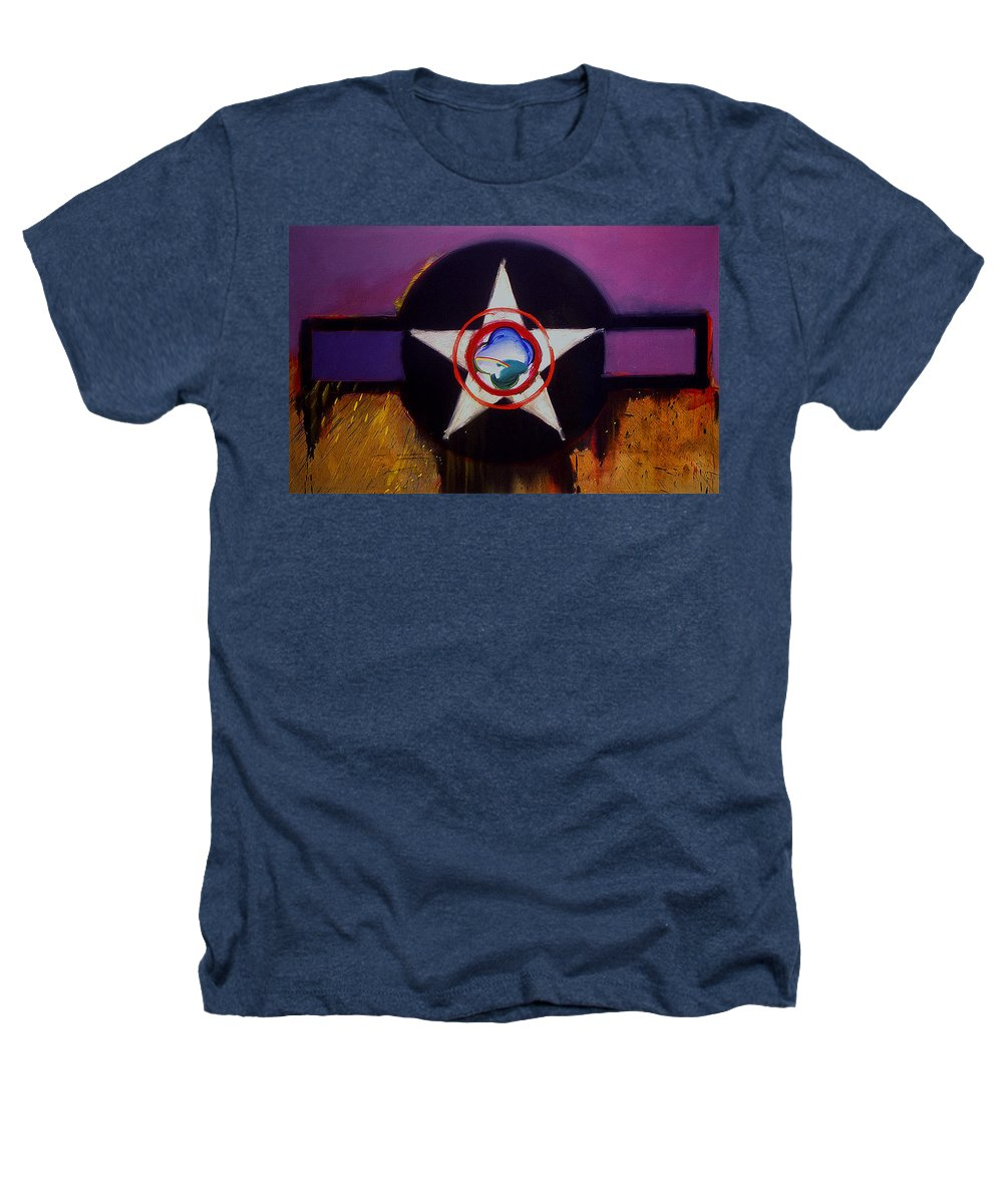 Air Force Insignia Heathers T-Shirt featuring the painting Cheyenne Autumn by Charles Stuart