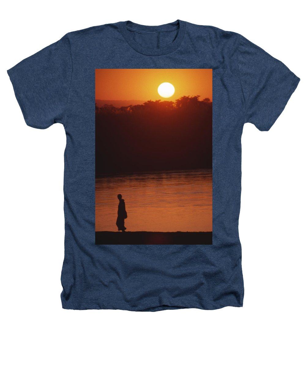 Sunset Heathers T-Shirt featuring the photograph Chitwan Sunset by Patrick Klauss
