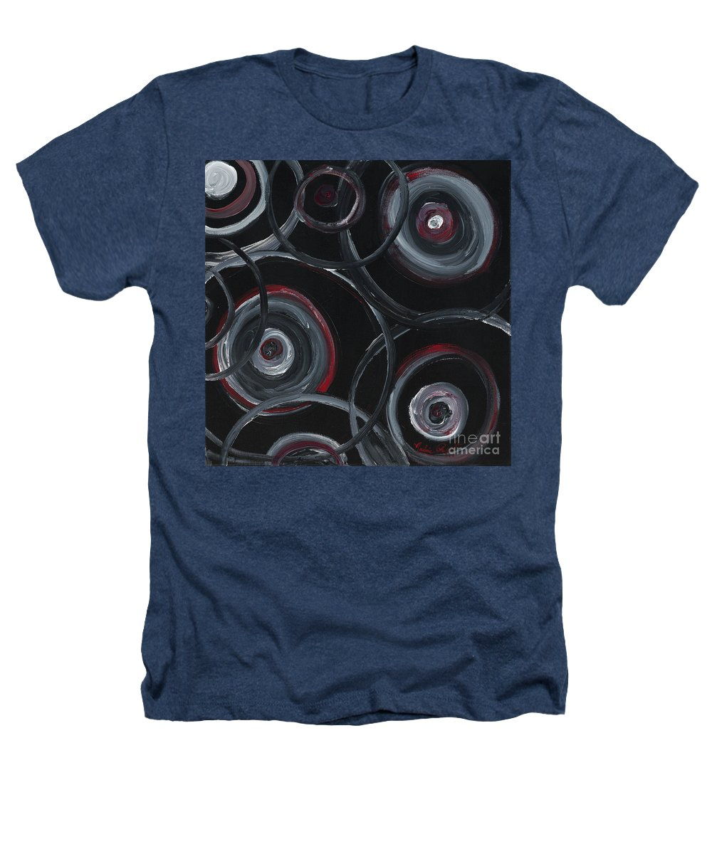 Circles Heathers T-Shirt featuring the painting Choices In Black by Nadine Rippelmeyer